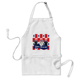 Scottish Terriers 4th of July Standard Apron