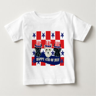 Scottish Terriers 4th of July Baby T-Shirt