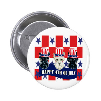 Scottish Terriers 4th of July Pinback Button
