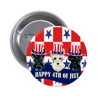Scottish Terriers 4th of July Pin