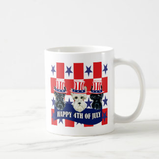 Scottish Terriers 4th of July Basic White Mug
