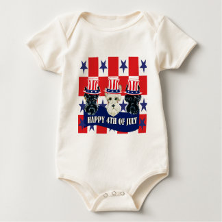 Scottish Terriers 4th of July Bodysuit