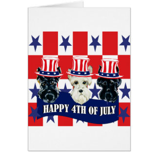 Scottish Terriers 4th of July Greeting Cards