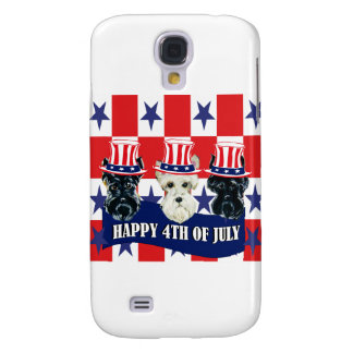 Scottish Terriers 4th of July Samsung Galaxy S4 Cover