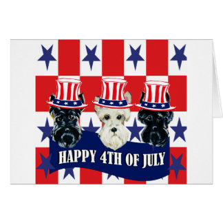 Scottish Terriers 4th of July Greeting Card