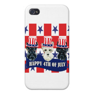 Scottish Terriers 4th of July iPhone 4/4S Covers