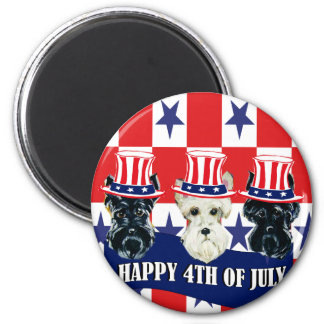 Scottish Terriers 4th of July Refrigerator Magnets