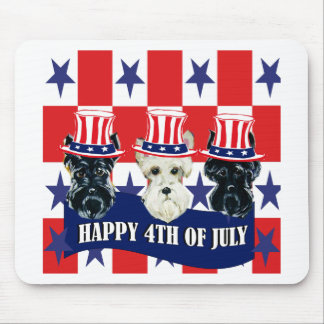 Scottish Terriers 4th of July Mouse Pad