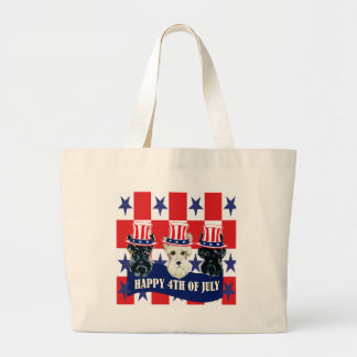 Scottish Terriers 4th of July Jumbo Tote Bag