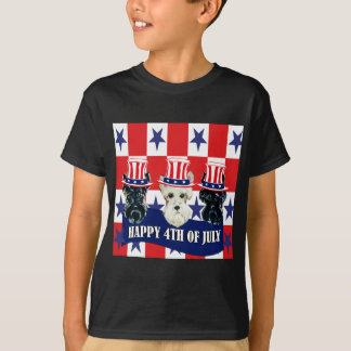 Scottish Terriers 4th of July Tshirt