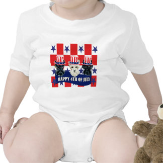 Scottish Terriers 4th of July Tshirts