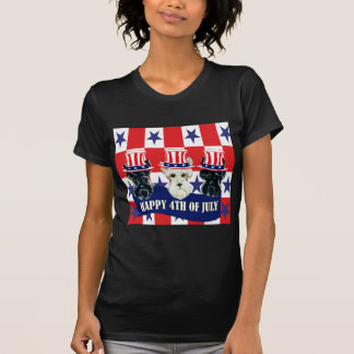 Scottish Terriers 4th of July T-shirts