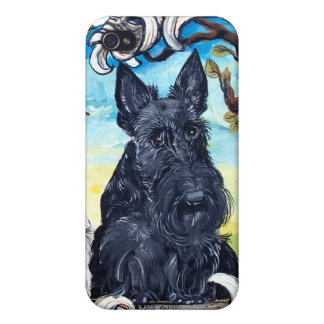 Scottish Terriers and Frog iPhone 4 Case