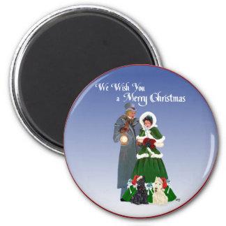 Scottish Terriers Christmas Carols 6 Cm Round Magnet
