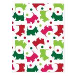 Scottish Terriers Christmas Pattern