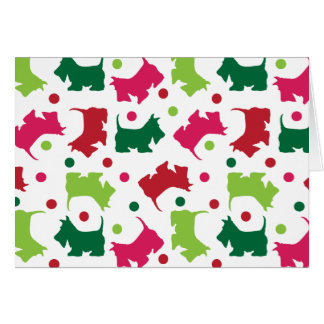 Scottish Terriers Christmas Pattern Card