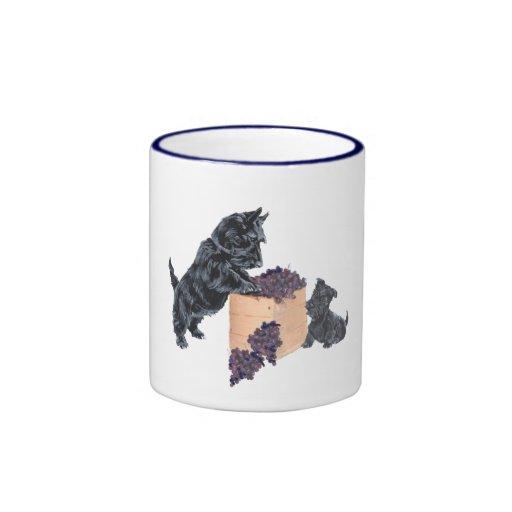 Scottish Terriers Grape Harvest Mugs