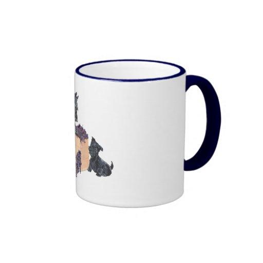 Scottish Terriers Grape Harvest Ringer Mug