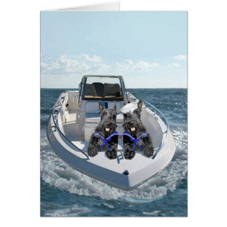 Scottish Terriers on the Boat Greeting Cards