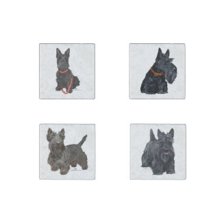 Scottish Terriers Stone Magnet