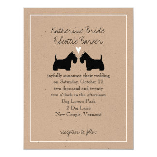 Scottish Terriers Wedding Invitation
