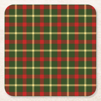 Scottish Themed Celebration Party Square Paper Coaster