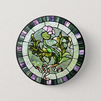 Scottish Thistle 6 Cm Round Badge