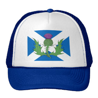 Scottish Thistle and Saltire Cap