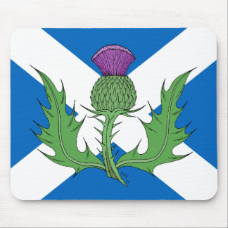 Scottish Thistle and Saltire Mouse Mat