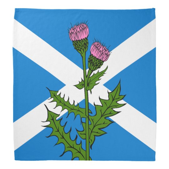 Scottish thistle bandana