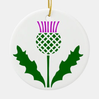 Scottish Thistle Christmas Ornament