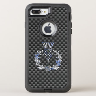 Scottish Thistle Decor on a OtterBox Defender iPhone 8 Plus/7 Plus Case