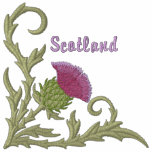 Scottish Thistle Embroidered Hoodies