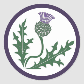 Scottish Thistle Flower Emblem Envelope Seal