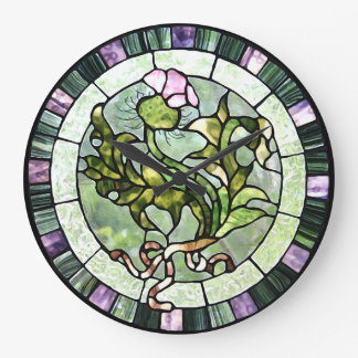 Scottish Thistle Large Clock