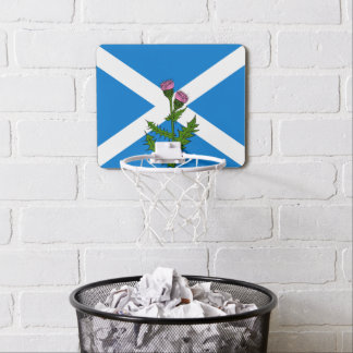 Scottish thistle mini basketball hoop