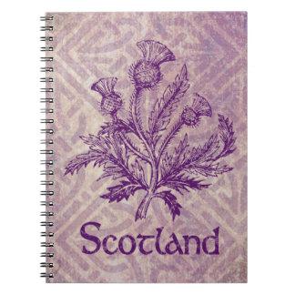 Scottish Thistle Purple Celtic Knot Notebooks