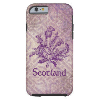 Scottish Thistle Purple Celtic Knot Tough iPhone 6 Case