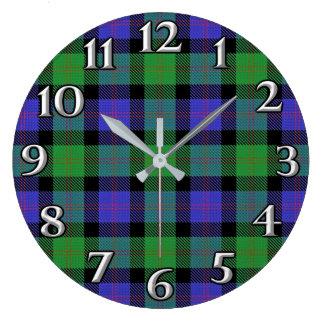 Scottish Time Accents Clan Blair Tartan Large Clock