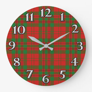 Scottish Time Accents Clan Livingstone Tartan Large Clock
