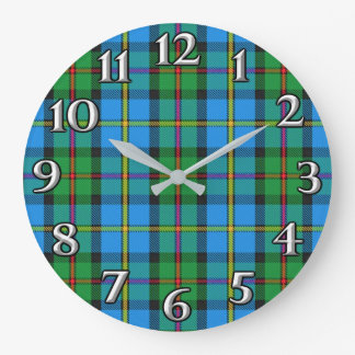 Scottish Time Accents Clan MacLeod Harris Tartan Large Clock