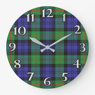 Scottish Time Accents Clan Murray Tartan Large Clock