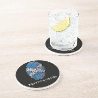 Scottish touch fingerprint flag coaster