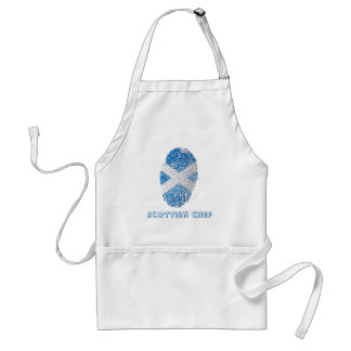 Scottish touch fingerprint flag standard apron