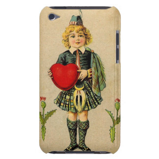 Scottish vintage Valentine and red heart iPod Touch Case-Mate Case
