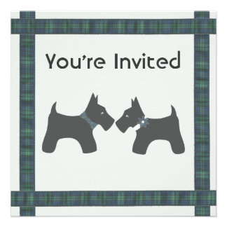 Scottish Wedding with Tartan Theme Personalized Announcement