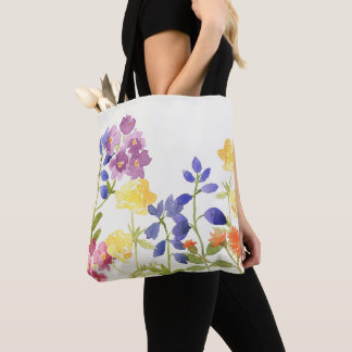Scottish Wild Flowers Watercolour Tote Bag