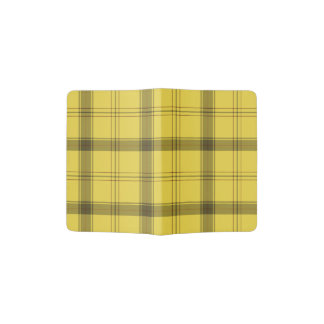 Scottish Yellow Tartan Passport Holder
