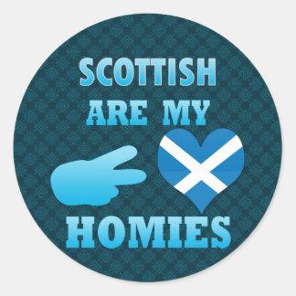 scottishs are my Homies Classic Round Sticker
