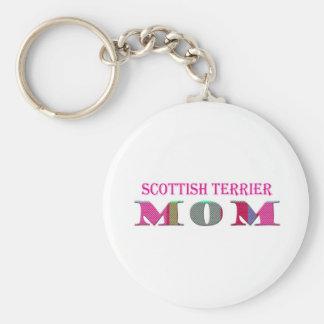 ScottishTerrierMom Basic Round Button Key Ring